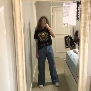 Denim-colored Wide leg pants 💖